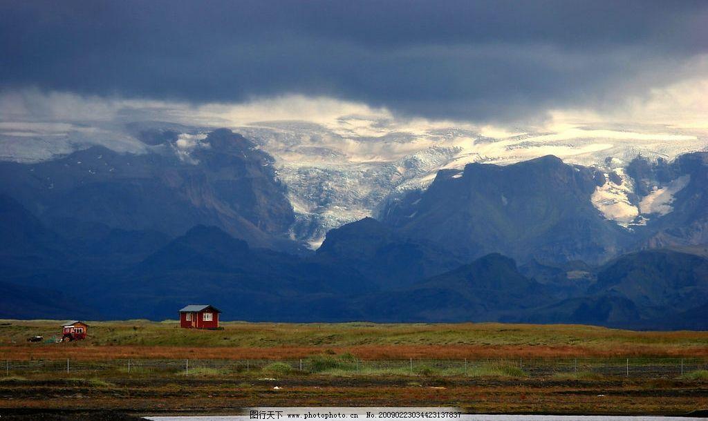 冰岛的雪山 北极圈 冻土带 欧洲 风景 自然 旅游摄影 国外旅游