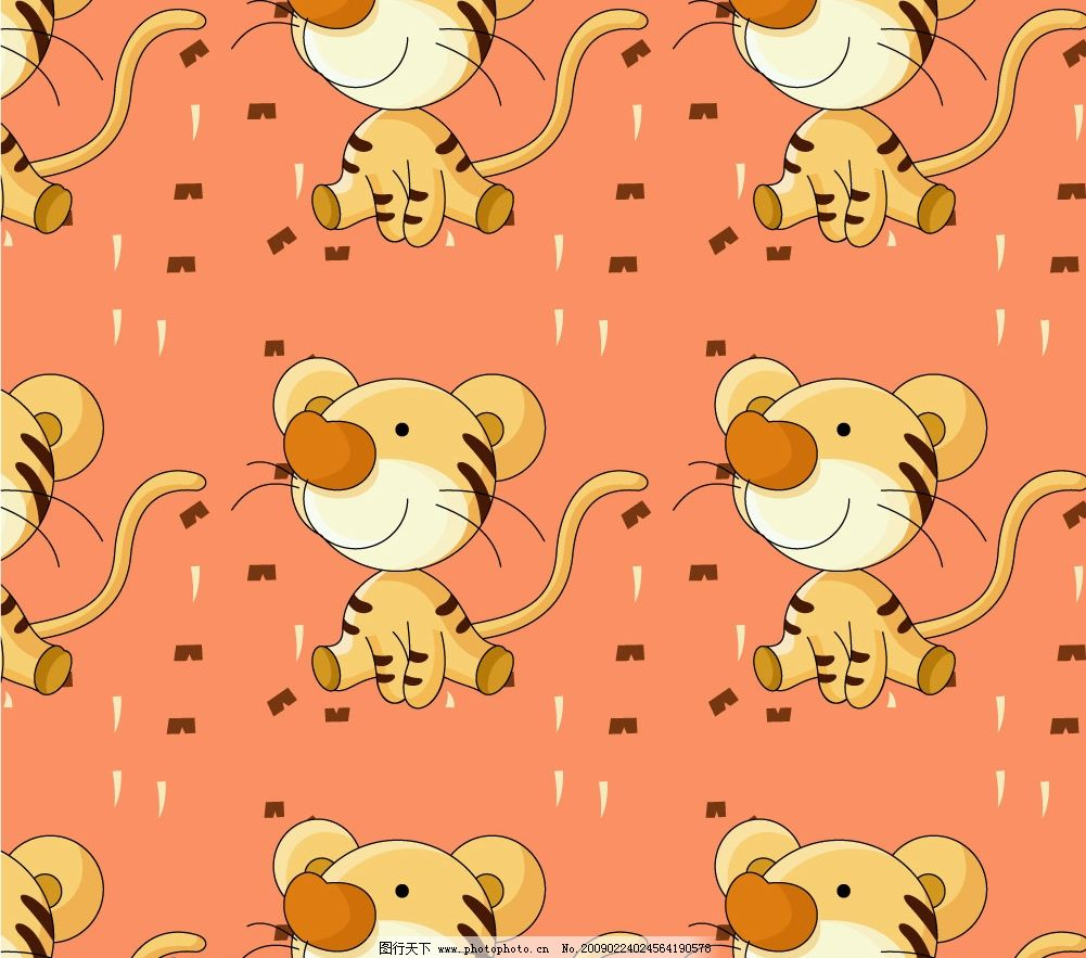 矢量可爱小老虎图片