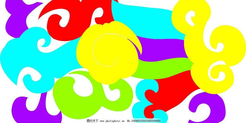 矢量花纹 花纹 花边 卡通 幼儿园 底纹边框 花纹花边 矢量图库 cdr