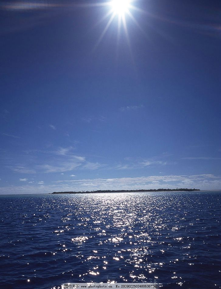 波光粼粼的海面图片 自然风景 自然风光 自然景观 天空 海面 大海