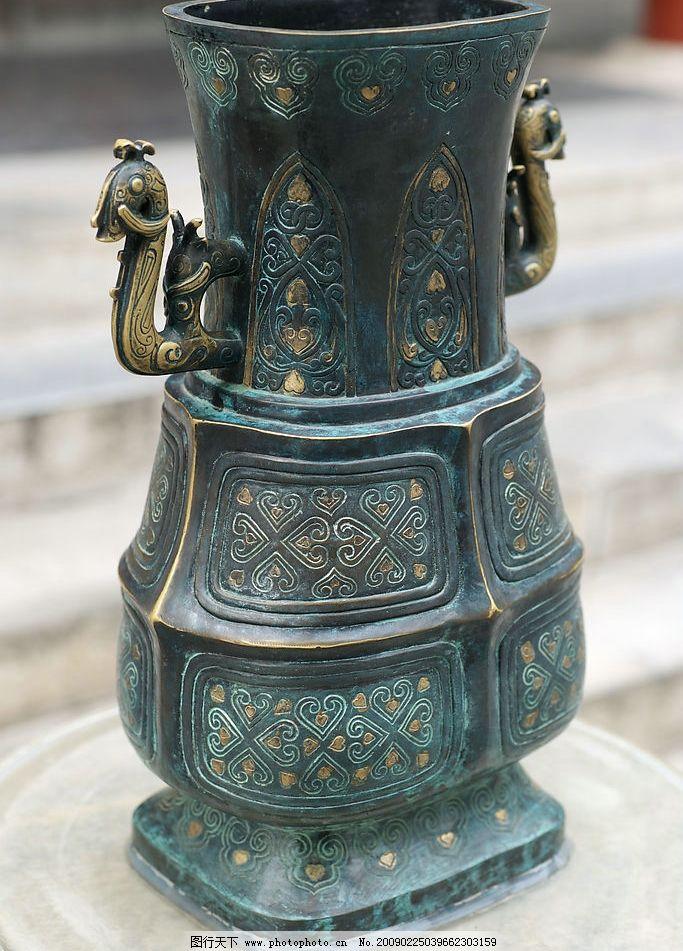 青铜器 古老 故宫 花纹 古典 凤凰 建筑园林 雕塑 摄影图库 300dpi jp