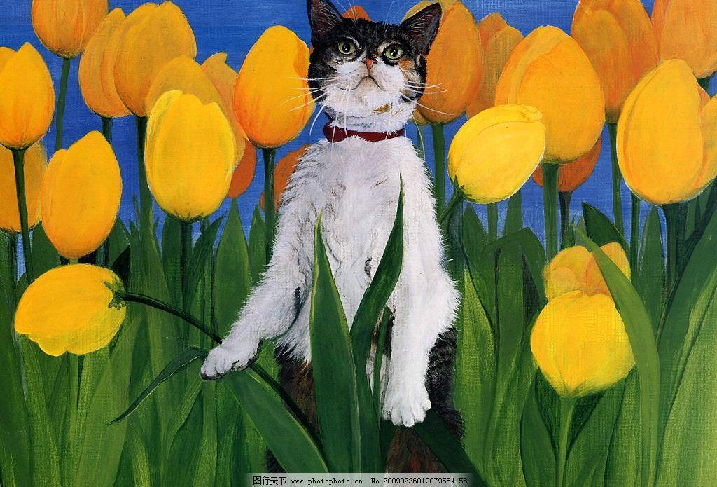 手绘猫咪图片
