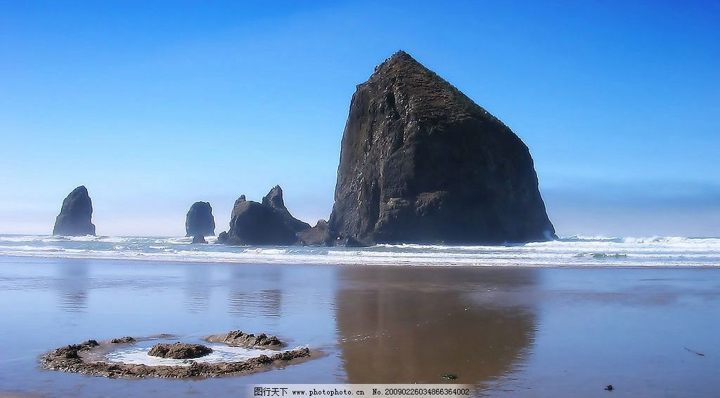 高清晰外国风景摄影2 天空 礁石 海滩 自然景观 自然风景 摄影图库 72