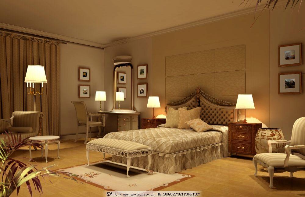 欧式卧室风格图片
