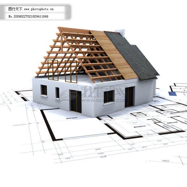 3d建筑物與平面圖-7 繪圖 基礎 房子構造 圖片素材