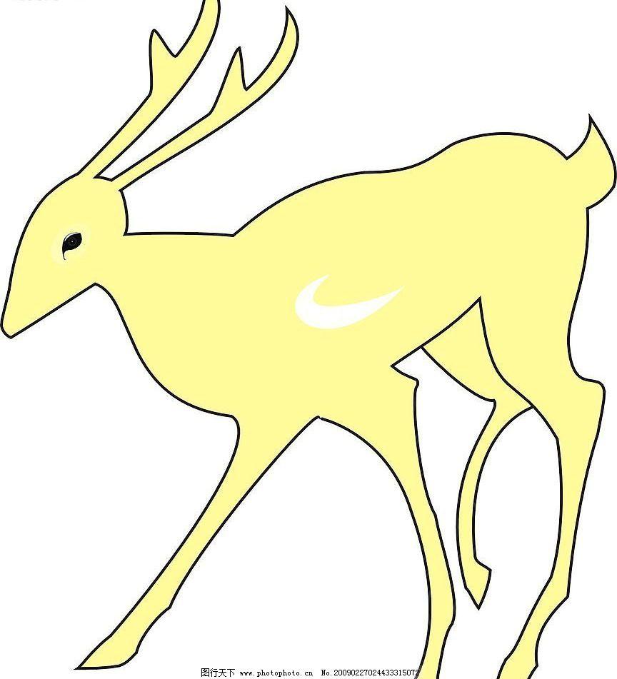 小鹿 鹿 其他矢量 矢量素材 矢量图库 cdr 生物世界 野生动物