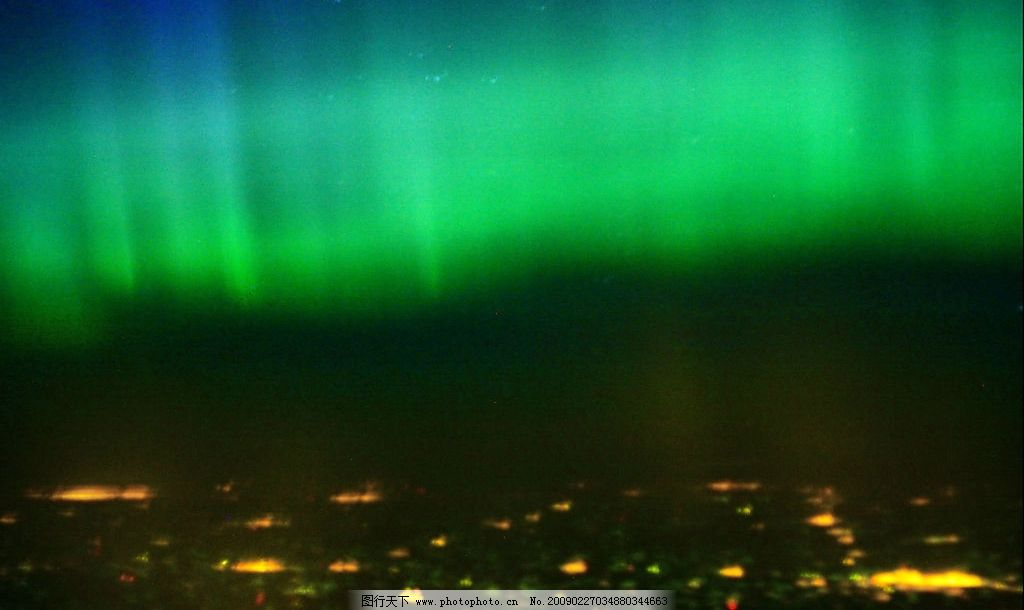 极光 北极 南极 极地奇观 自然景观 自然风景 摄影图库