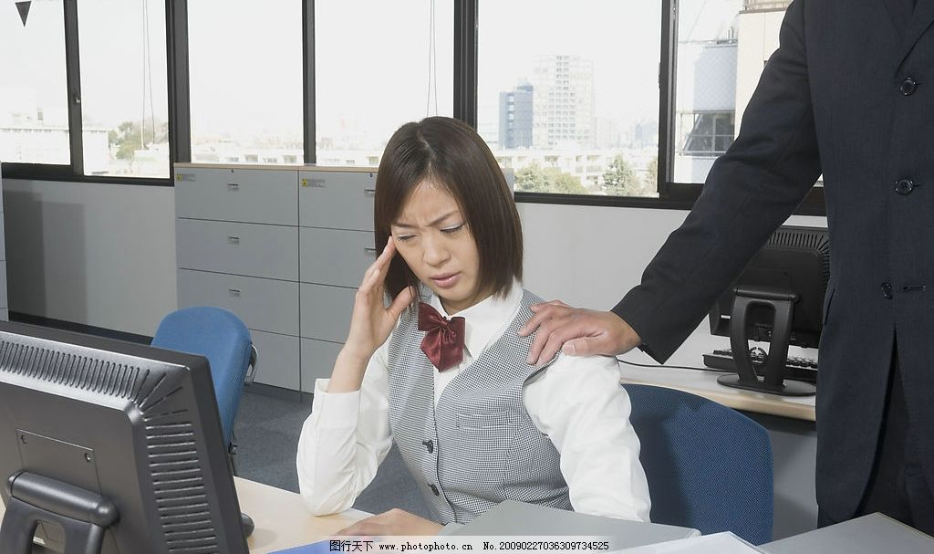 女职员 行政办公人员 办公室 女人 女孩 电脑 人物图库 人物摄影 摄影