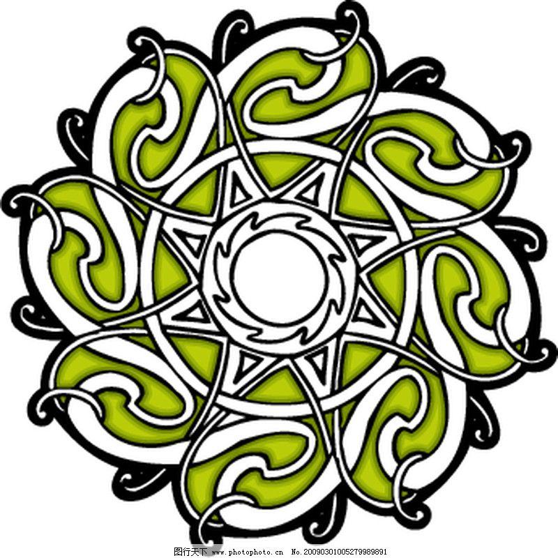 欧美花纹元素 凯尔特装饰品