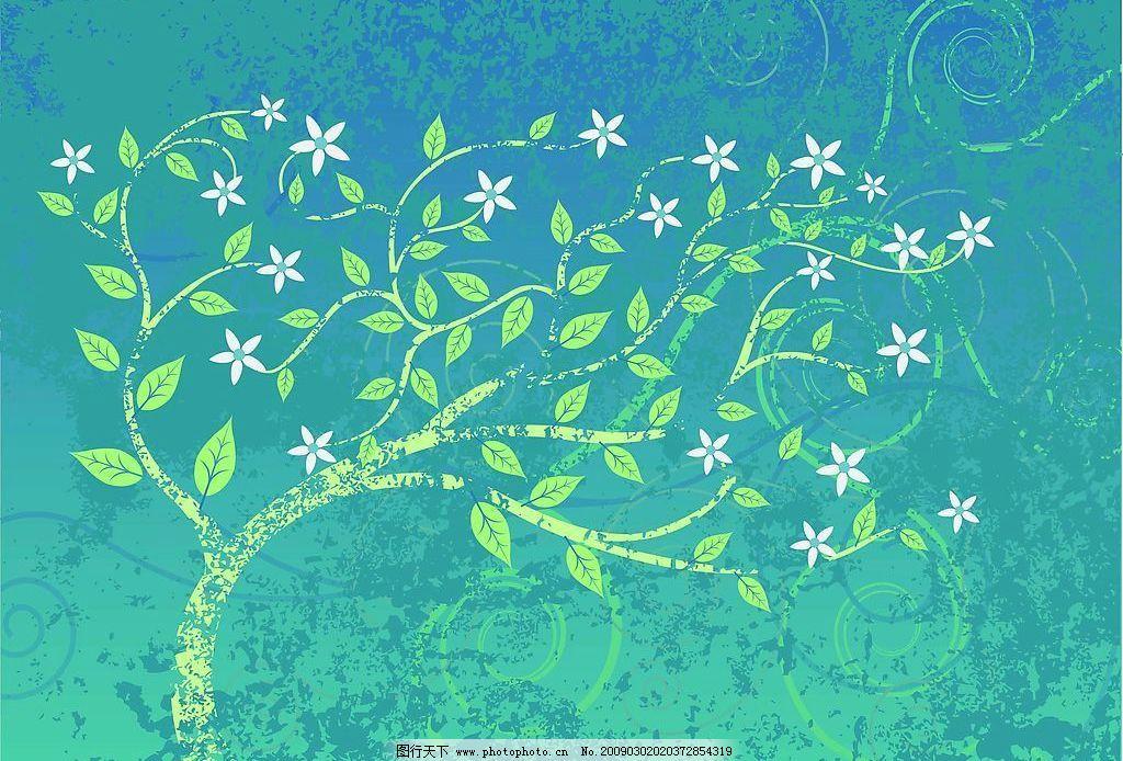 树叶花纹图片_花边花纹