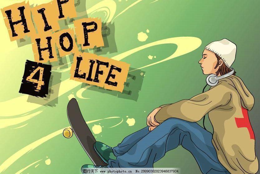 嘻哈人物 hiphop 嘻哈素材 潮爆 潮流 音乐 人物 个性 矢量素材 矢量