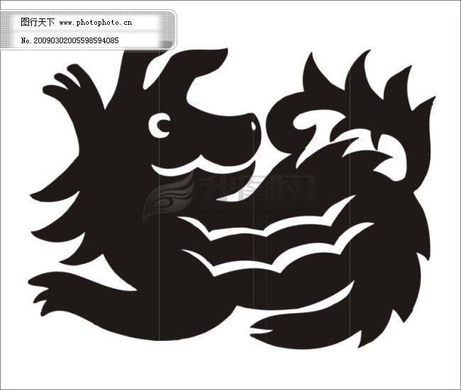 12生肖 狗猴虎鸡龙牛蛇鼠兔马羊猪 矢量图