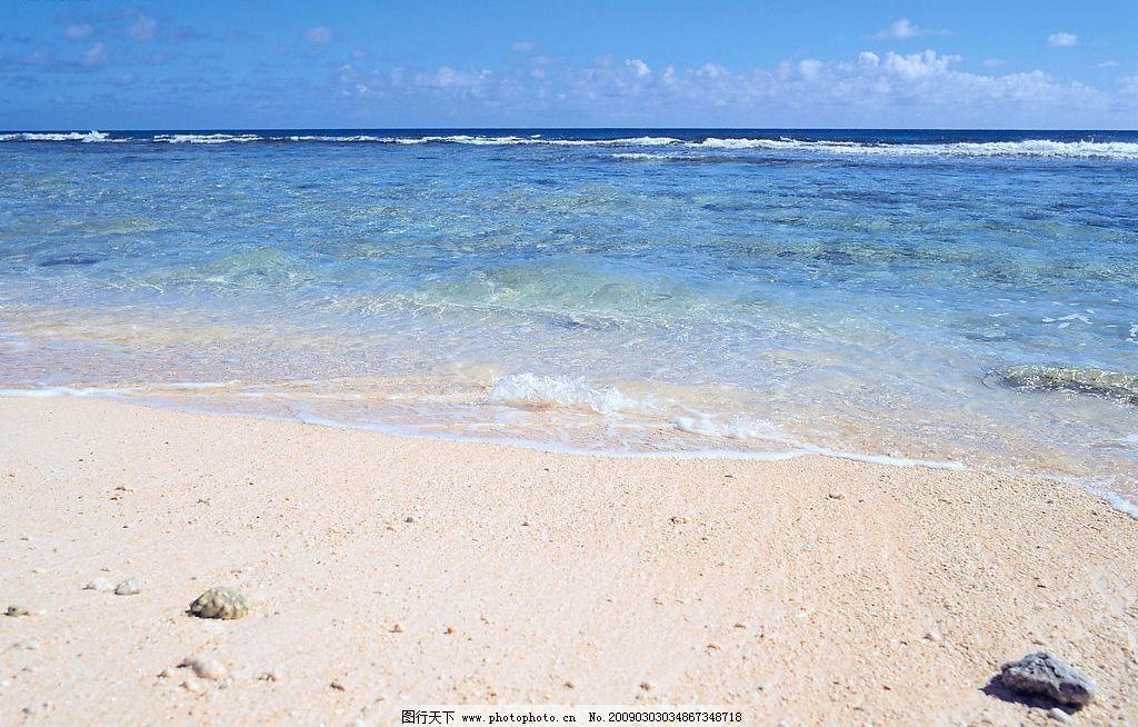 沙滩 沙滩图片自然风景 自然风光 自然景观 天空 海面 大海 海洋