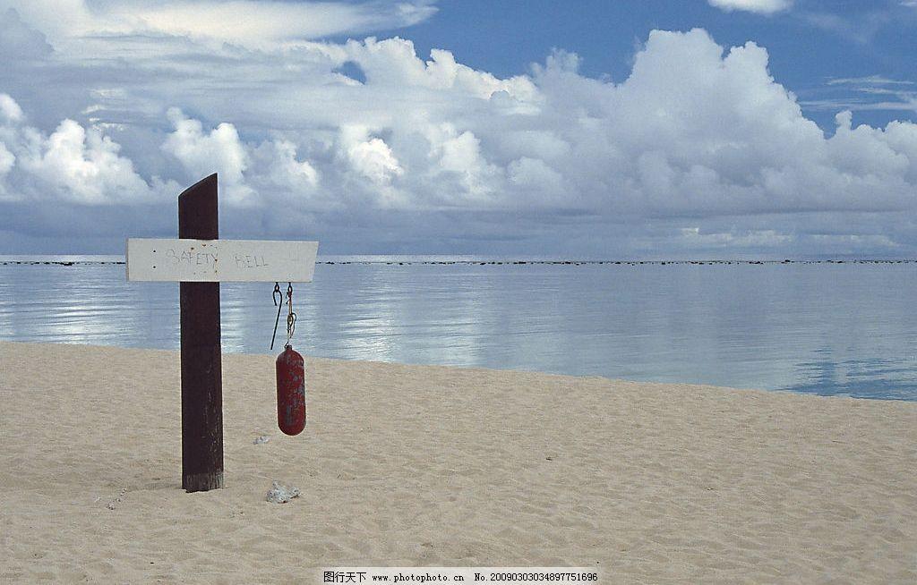 指示牌 自然风景 自然风光 自然景观 天空 海面 大海 海洋 波光粼粼