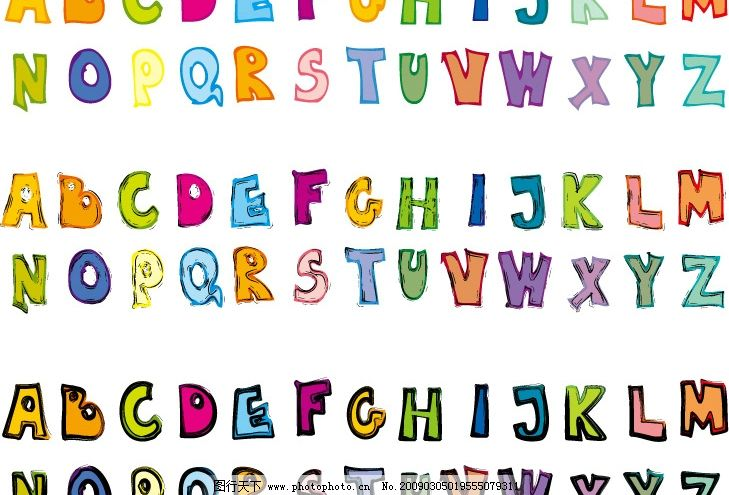 矢量英文字母 矢量 英文 字母 可爱字体 卡通 卡通字体 其他矢量 矢量