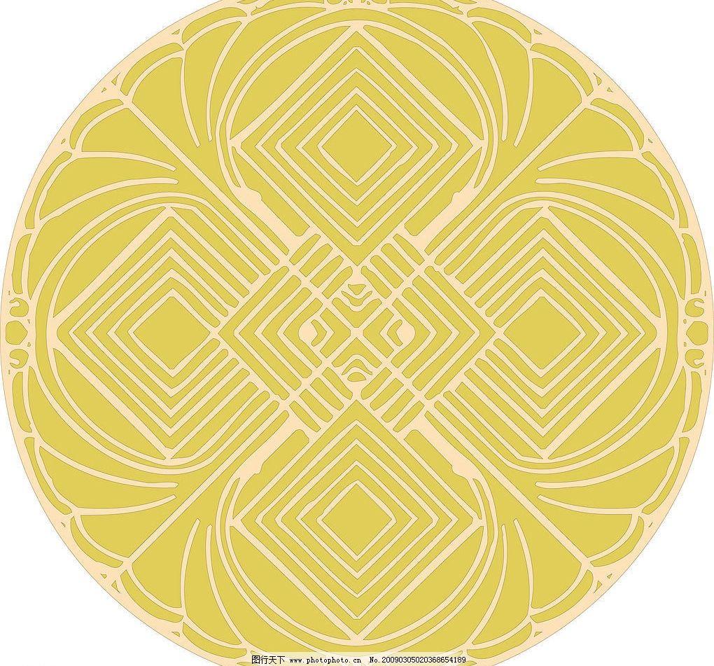 圆内方形图案图片