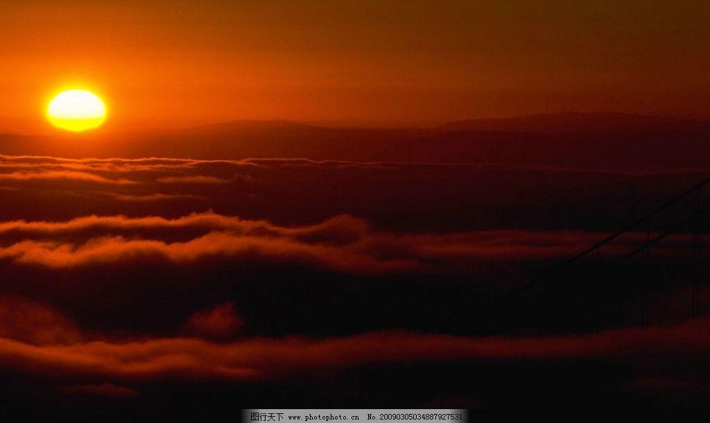 日出 朝霞 晚霞 云彩 自然景观 自然风景 摄影图库 72dpi jpg