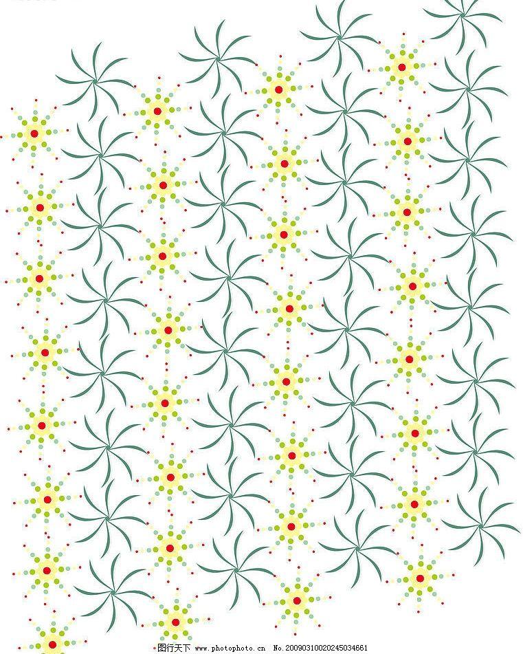 放射性花纹图案 底纹边框