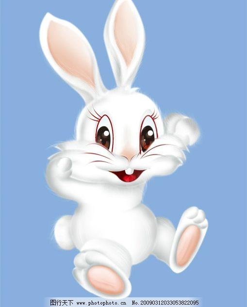 兔子图片,可爱 小兔子 活泼 分层 逼真 卡通 动物-图