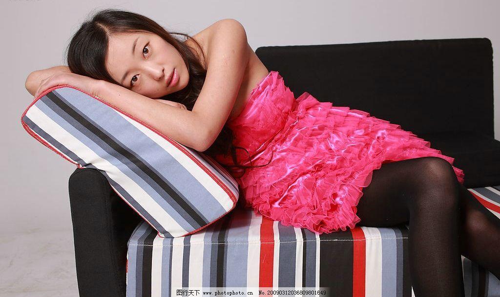 黑色丝袜 美女 模特 清纯 可爱 时尚 清晰 漂亮 美丽 女生 女孩 美发