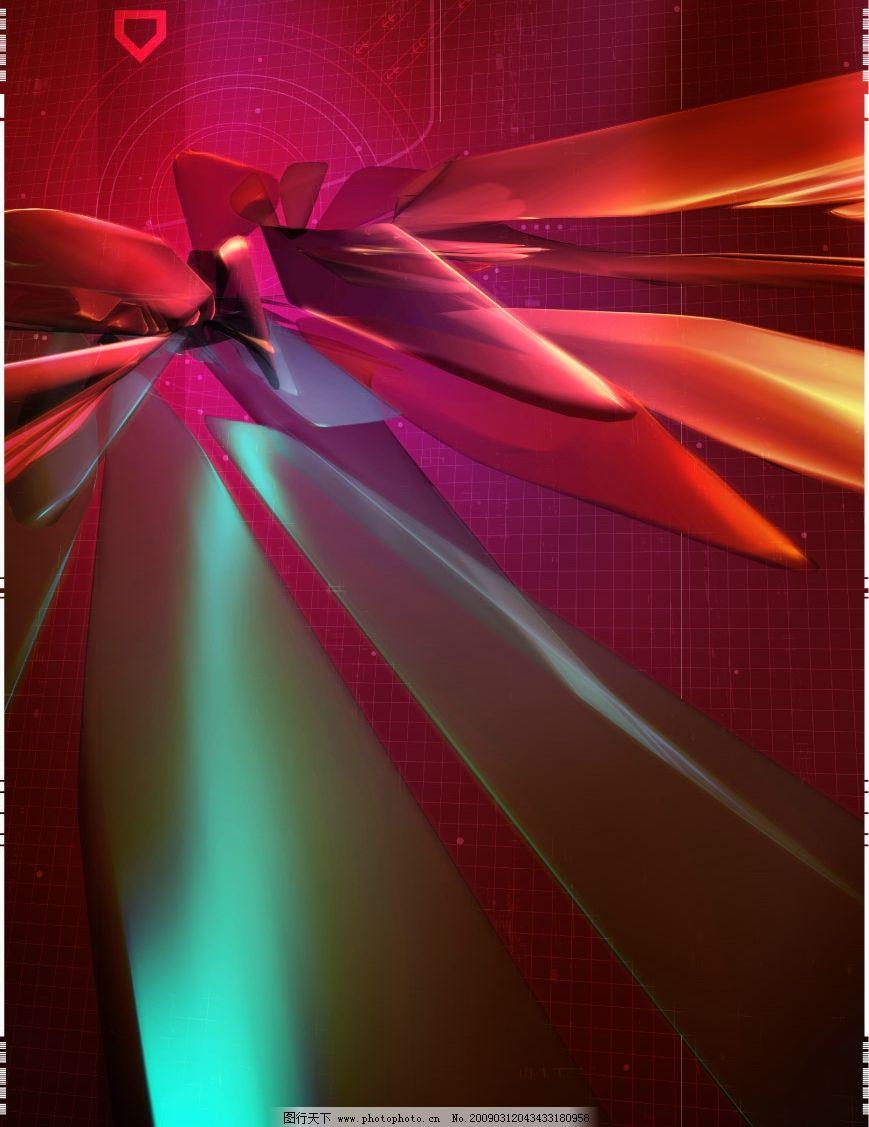 炫丽金属影视设计 绚丽 红色 金属 线条 设计 多媒体设计 非线性编辑