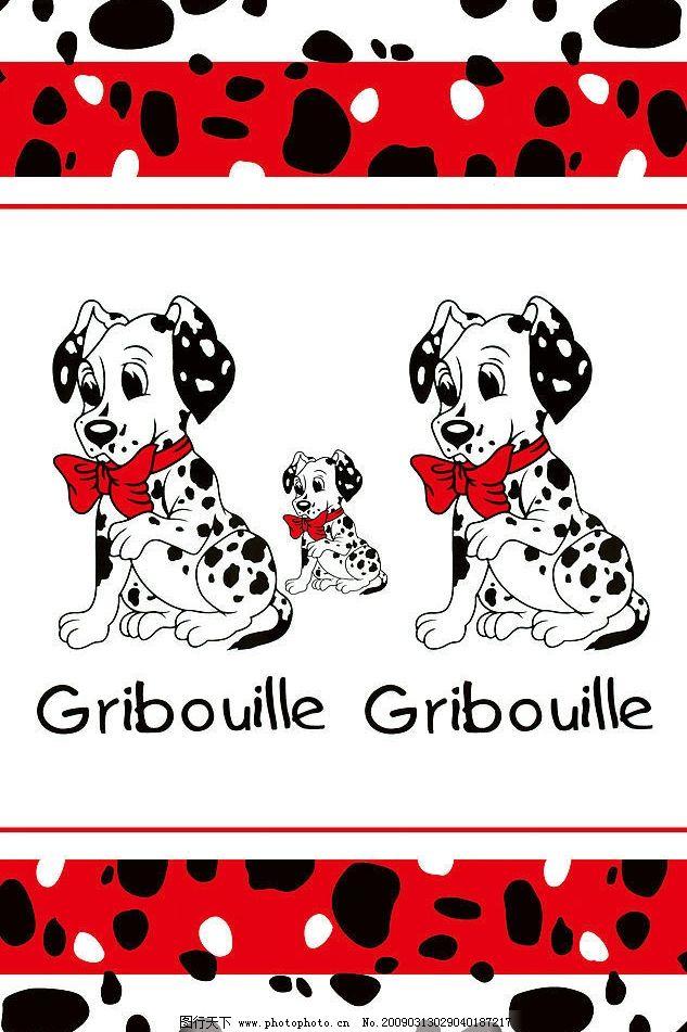 吉祥三寶 斑點狗 小狗 卡通 移門 其他 圖片素材 設計圖庫 60dpi jpg