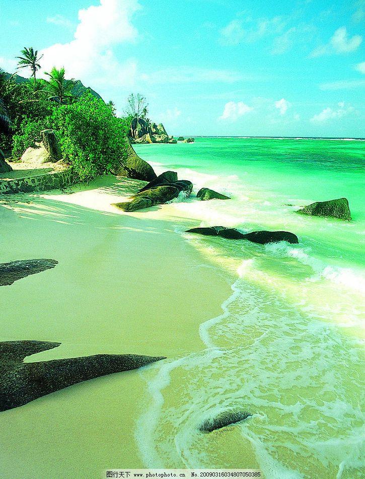 海边风景 大海沙滩 摄影图库