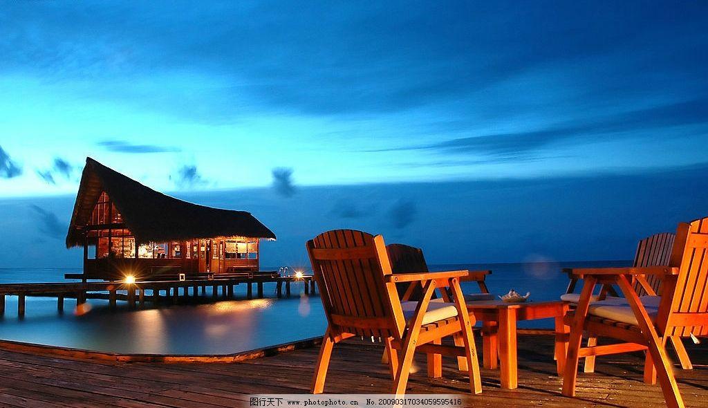 度假景观 休闲 度假 海边 傍晚 躺椅 享受 旅游摄影 国外旅游 摄影
