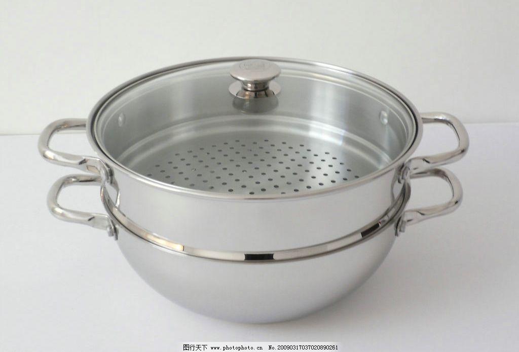 不锈钢 锅 盆 碗 煎 厨房用品 炊具 勺 生活百科 生活素材 摄影图库 3