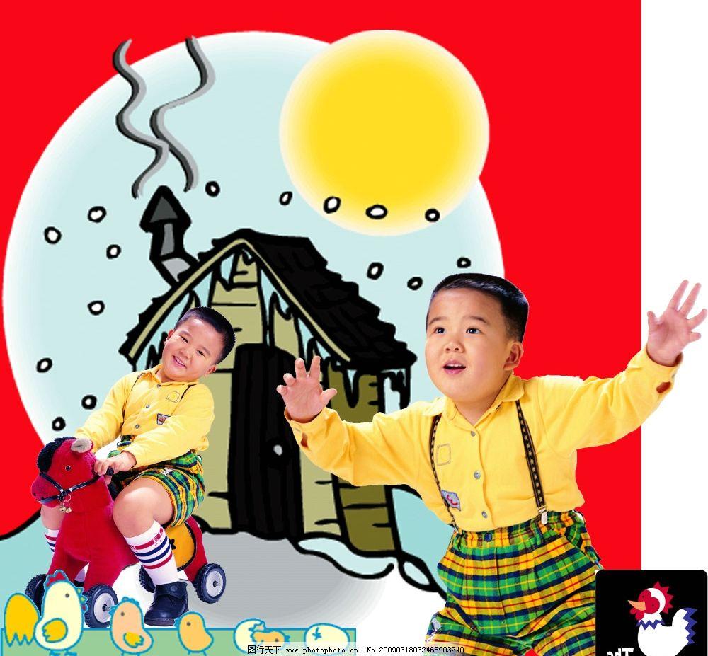 影楼儿童模板 影楼 儿童 模板 样片 版画 风景 素材      psd分层素材