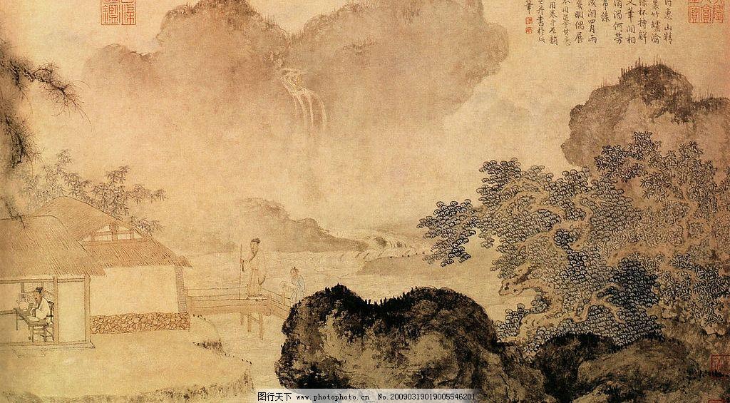 传统 古典 山水 古图图片