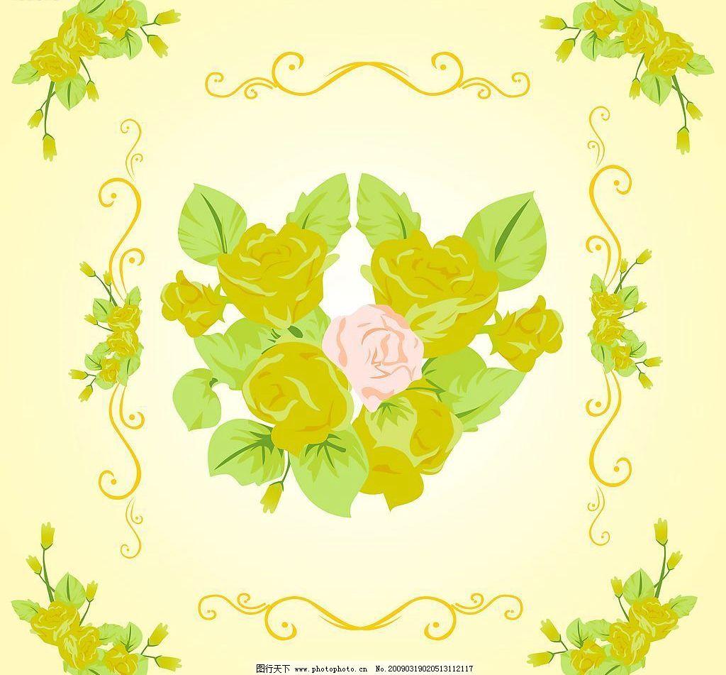 花边像框 花 玫瑰 像框 底纹边框 条纹线条 设计图库 72dpi jpg