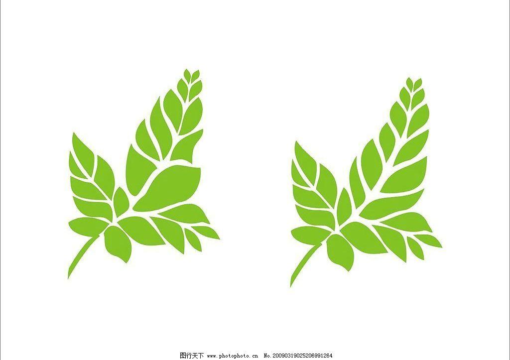 绿色树叶 植物 矢量图库