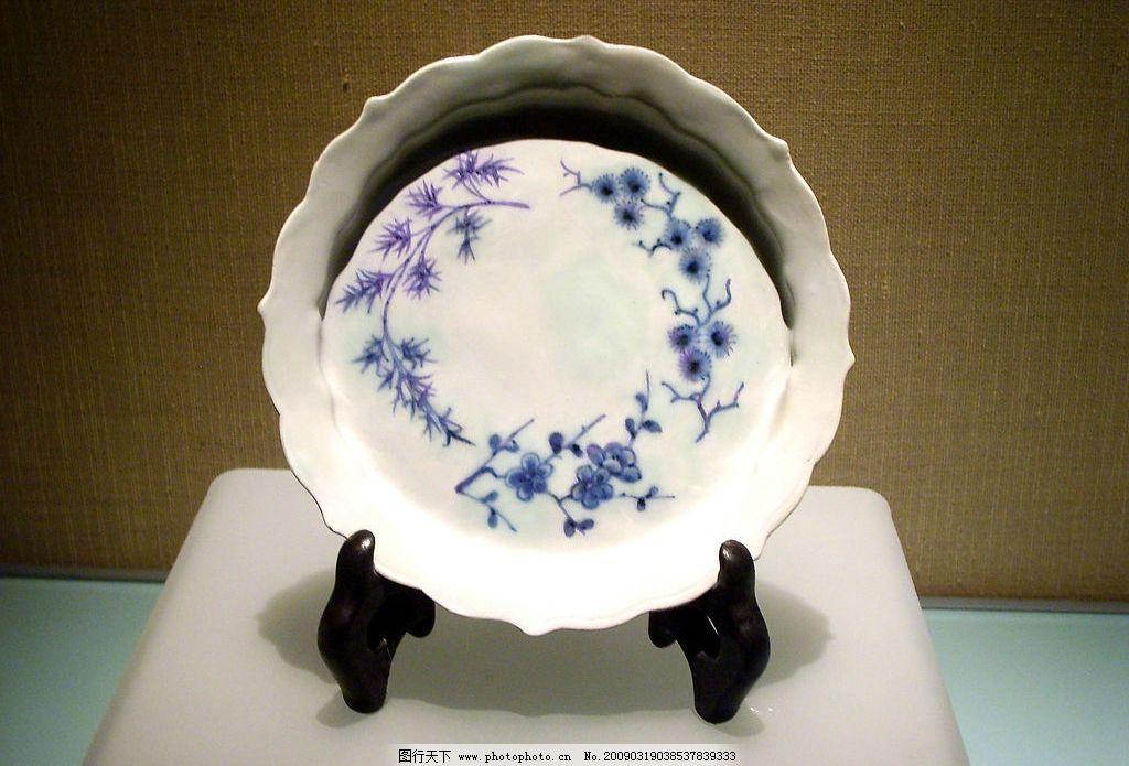 青花瓷 首都博物馆 青花 青花瓷盘 盘子 圆盘 文化艺术 传统文化 摄影