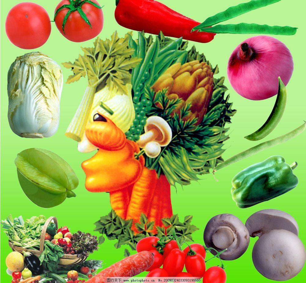 红辣椒 洋葱 蘑菇 蔬菜设计 设计 蔬菜广告 白菜 四季豆 psd分层素材