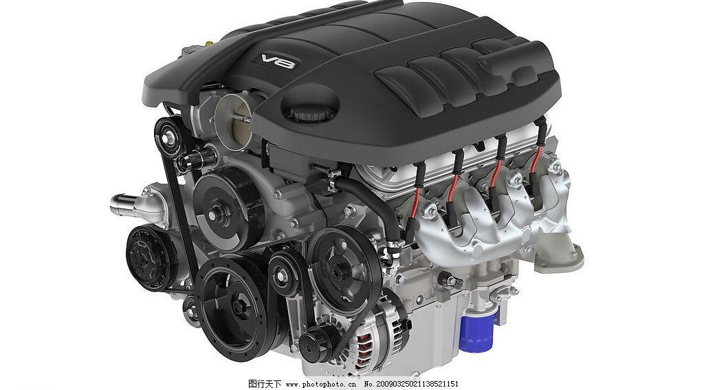 v8汽车发动机 3d汽配 高清模型 汽车发动机皮带 3d设计 3d作品 设计