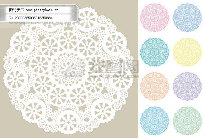 圆形古典花纹矢量素材2免费下载
