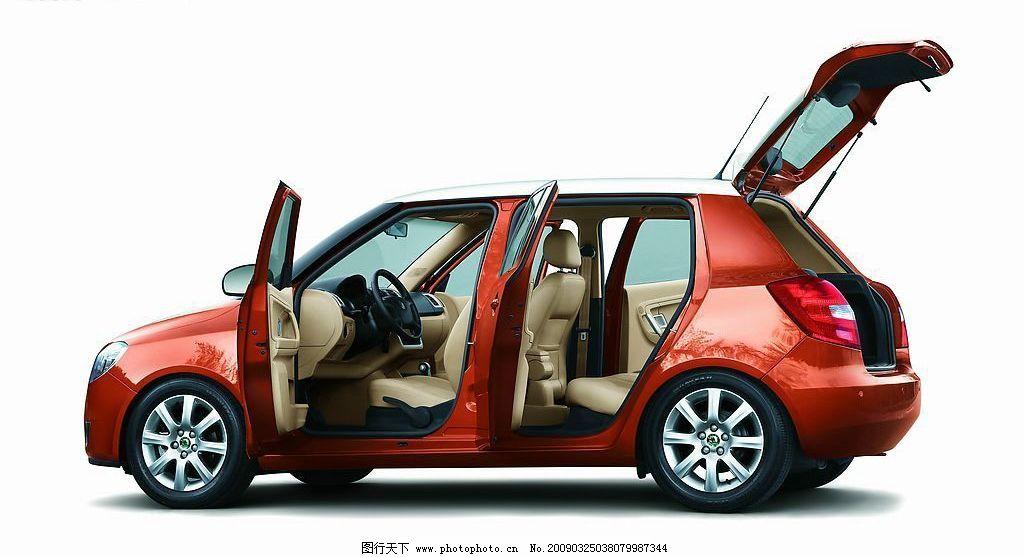 斯柯达汽车 斯柯达 晶锐 五门掀背式 敞开车门 交通工具 现代科技