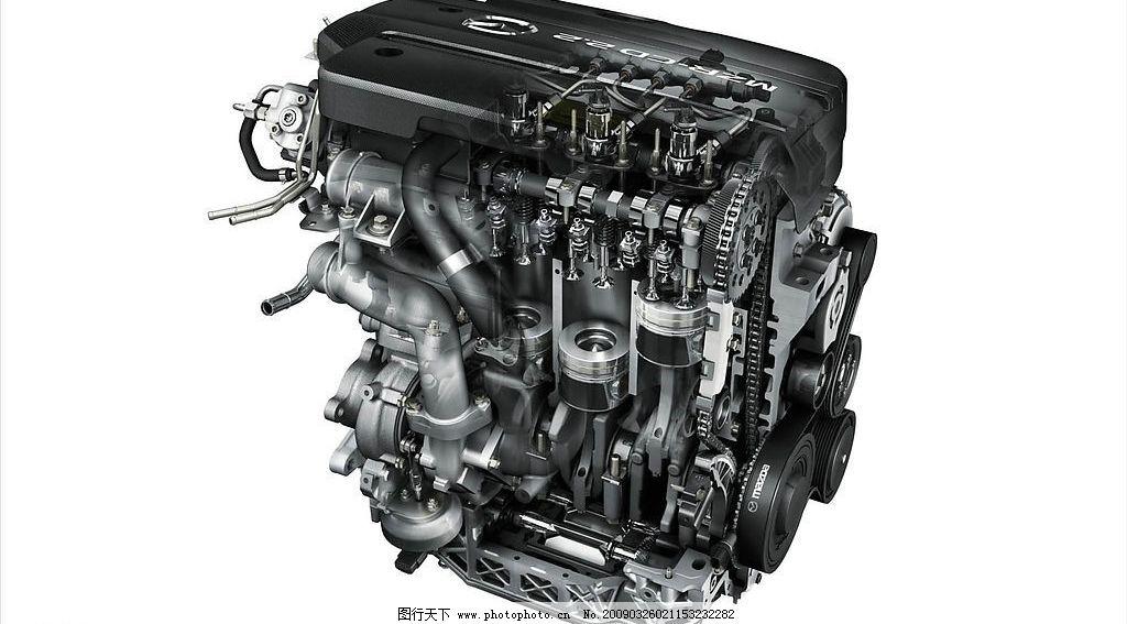 发动机内部结构图片_3d作品设计