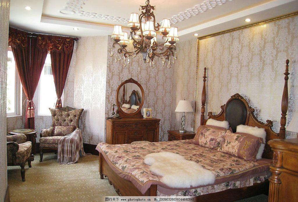 豪华欧式室内摄影-卧室图片