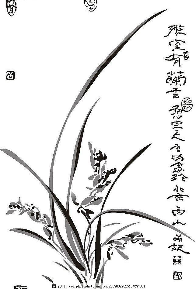 团扇的兰花绘画步骤