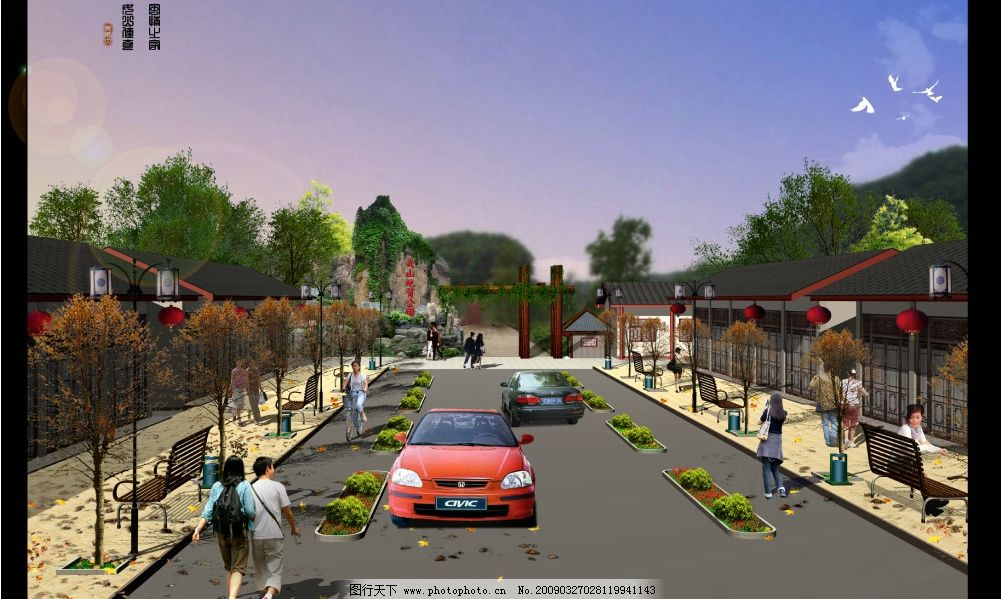 风景区入口 旅游 景观 规划设计 大门 源文件库