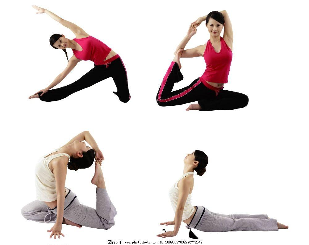 瑜伽美女 瑜伽 美丽 瘦身 形体 减肥 女性 练瑜伽功的清爽美女 美女