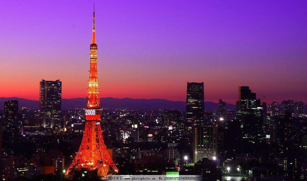 东京铁塔夜景图片