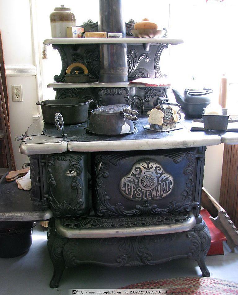 欧式古典火炉式厨房 厨房一角图片