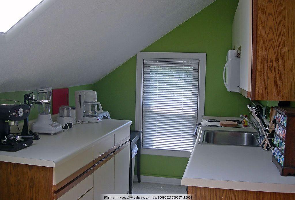 阁楼里的袖珍厨房图片