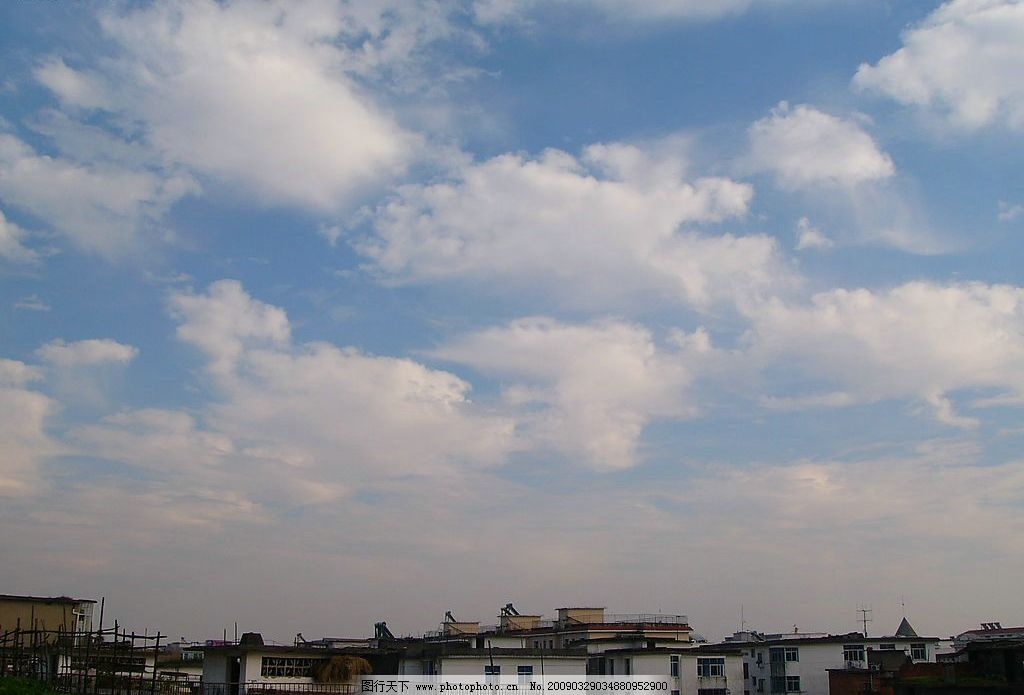 天空 背景 素材 蓝天 白云