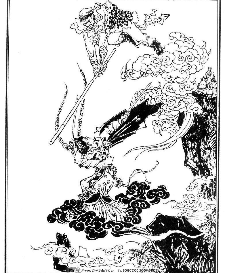 手绘的戏剧海报