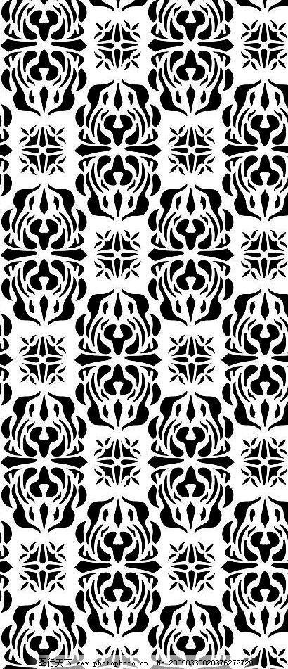 黑白装饰花纹 花纹 装饰 花边 花框 底纹边框 花边花纹 设计图库 300d