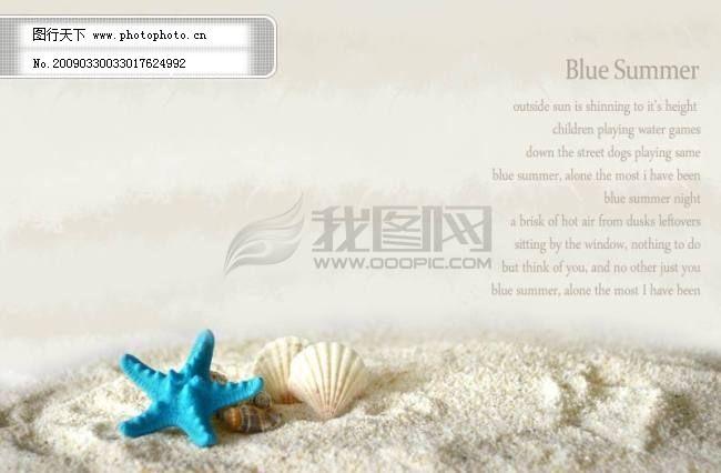 沙滩_海滩_海星_贝壳_五角星_海螺免费下载 创新psd 相片 照片 海岸一